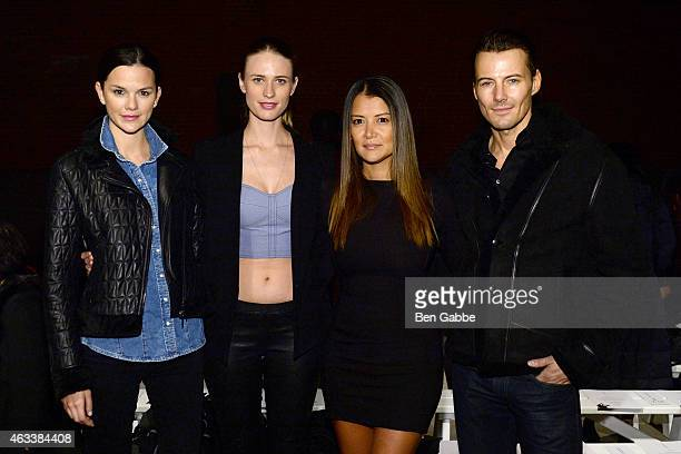 Allie Rizzo Julie Henderson Keytt Lundqvist and Alex Lundqvist attend the Asaf Ganot fashion show during MercedesBenz Fashion Week Fall 2015 on...