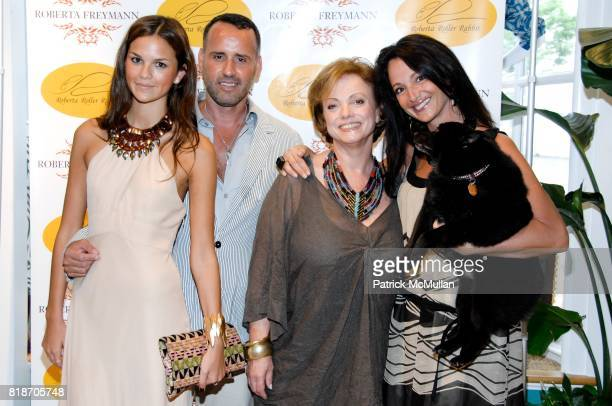 Allie Rizzo Scott Buccheit Roberta Freymann Emma SnowdonJones and Gibear attend Tinsley Mortimer Hosts the Roberta Freymann East Hampton Boutique...
