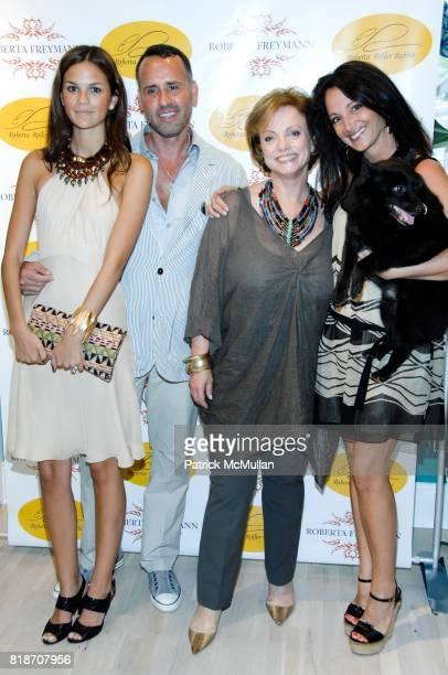 Allie Rizzo Scott Buccheit Roberta Freymann Emma SnowdonJones and Gibear attend Tinsley Mortimer Hosts the Roberta Freymann East Hampton Boutique...