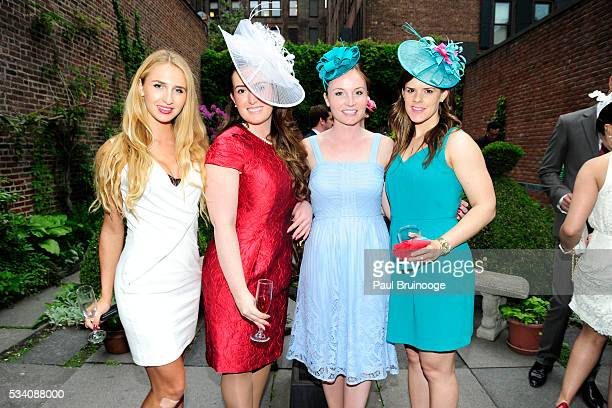 Allie Sutherland Olivia McDonnell Ashley Puscas and Marilyn DuffyCabana attend Historic Royal Palaces Patrons Secret Garden Party at Merchant's House...