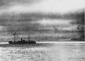 Allied World War II convoy PQ 17 is attacked by German torpedo aircraft on its way across the Arctic Ocean from Hvalfjord in Iceland to Arkhangelsk...