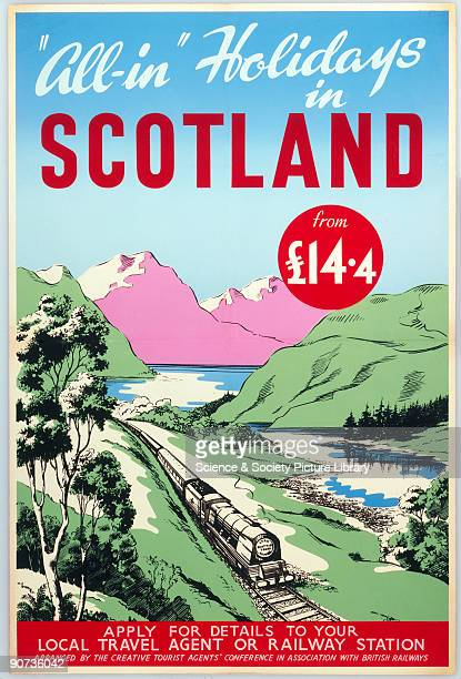 AllIn' Holidays in Scotland Creative Tourist Agents' Conference/BR poster c1950s Poster produced for the Creative Tourist Agents' Conference and...