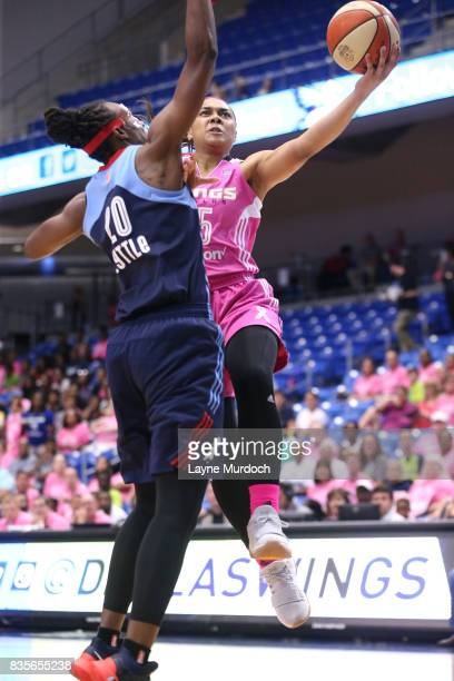 Allisha Gray of the Dallas Wings goes for a lay up against the Atlanta Dream on August 19 2017 at College Park Center in Arlington Texas NOTE TO USER...