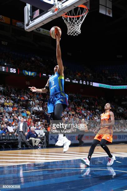 Allisha Gray of the Dallas Wings shoots the ball against the Connecticut Sun on August 12 2017 at Mohegan Sun Arena in Uncasville CT NOTE TO USER...