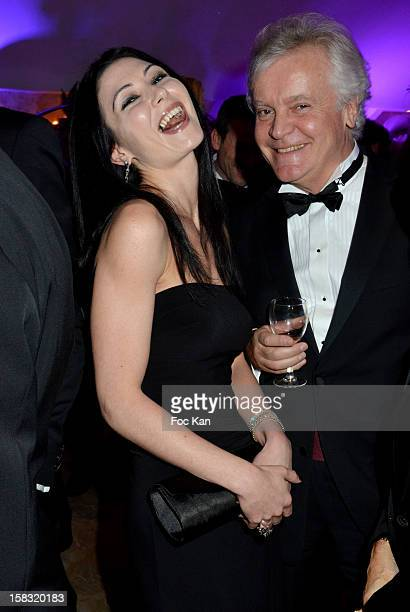 Allison Adoue and a guest attend the The Bests Awards 2012 Ceremony at the Salons Hoche on December 11 2012 in Paris France