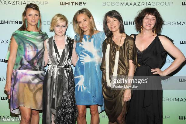 Allison Aston Sarah Brown Lubov Azria Brooke Neidich and Ellen Harvey attend 2010 WHITNEY ART PARTY Presented by BCBGMAXAZRIA at 82Mercer on June 9...