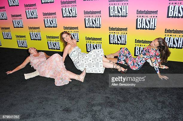 Allison Baker Melanie Scrofano and Lindsay Govan attend Entertainment Weekly's Annual ComicCon Party 2016 at Float at Hard Rock Hotel San Diego on...