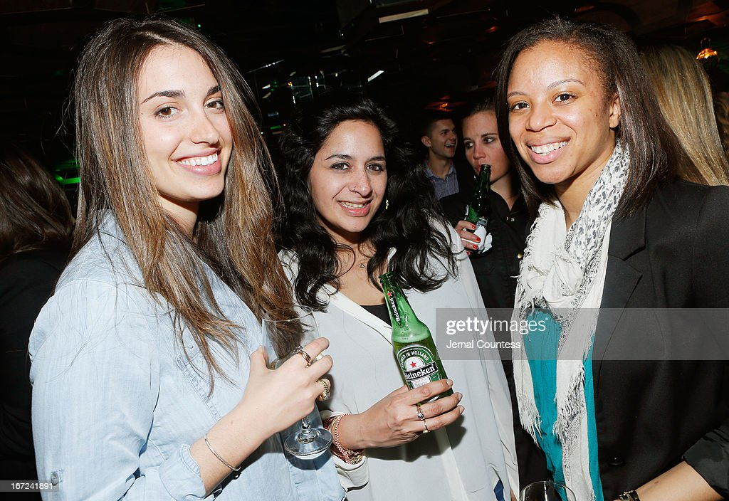 Allison Barber, Maya Anand and Alexander Min attend the Tribeca Film Festival 2013 After Party 'Before Midnight' sponsored by Heineken on April 22, 2013 in New York City.