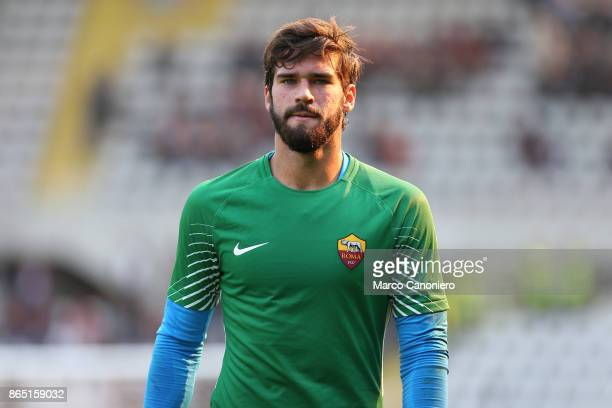 Allison Becker of As Roma looks on before the Serie A football match between Torino Fc and As Roma As Roma wins 10 over Torino Fc