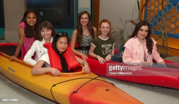 Allison Fernandez Lauren Donzis Lauren Donzis Aubrey Miller Olivia Sanabia and Abby Donnelly attend an 'An American Girl Story Summer Camp Friends...
