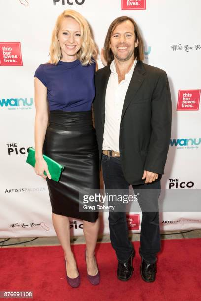Allison Geddie and David Lockhart attend With Love From California A Night Of One Act Plays Benefiting Hurricane Relief Efforts Through Team Rubicon...