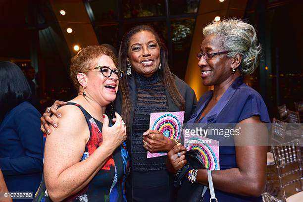 Allison Grant Williams Bettye Lynn Smith and Olga Alfred attend Abstracted Black Tie Dinner Hosted by Pamela Joyner Fred Giuffrida and the Ogden...