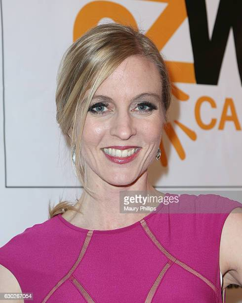 Allison H Larson arrives at eZWayCares Community Santa Toy Drive on December 18 2016 in Los Angeles California