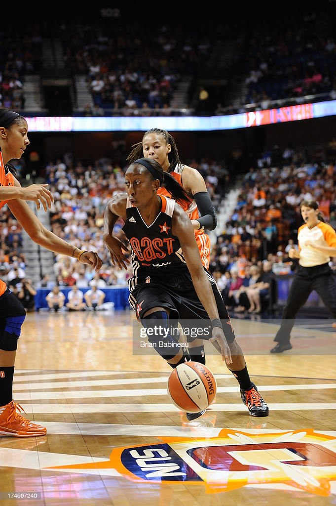 Allison Hightower #23 of the Eastern Conference All-Stars drives to the basket against the Western Conference All-Stars during the 2013 Boost Mobile WNBA All-Star Game on July 27, 2013 at Mohegan Sun Arena in Uncasville, Connecticut.