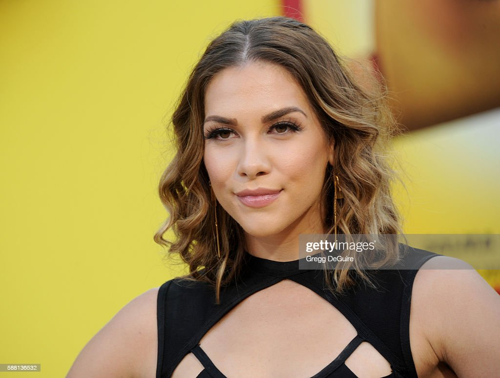 Allison Holker arrives at the premiere of Sony's 'Sausage Party' at Regency Village Theatre on August 9 2016 in Westwood California