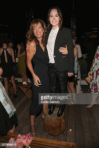 Allison Janney and Ellen Page attend Netflix Hosts the After Party for 'Tallulah' at The Jimmy at the James Hotel on July 19 2016 in New York City