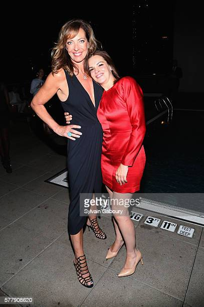 Allison Janney and Tammy Blanchard attend Netflix Hosts the After Party for 'Tallulah' at The Jimmy at the James Hotel on July 19 2016 in New York...