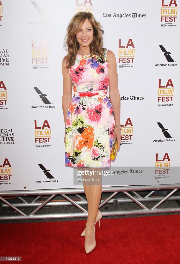 <a gi-track='captionPersonalityLinkClicked' href=/galleries/search?phrase=Allison+Janney&family=editorial&specificpeople=206290 ng-click='$event.stopPropagation()'>Allison Janney</a> arrives at the 2013 Los Angeles Film Festival 'The Way, Way Back' closing night gala held at Regal Cinemas L.A. LIVE Stadium 14 on June 23, 2013 in Los Angeles, California.
