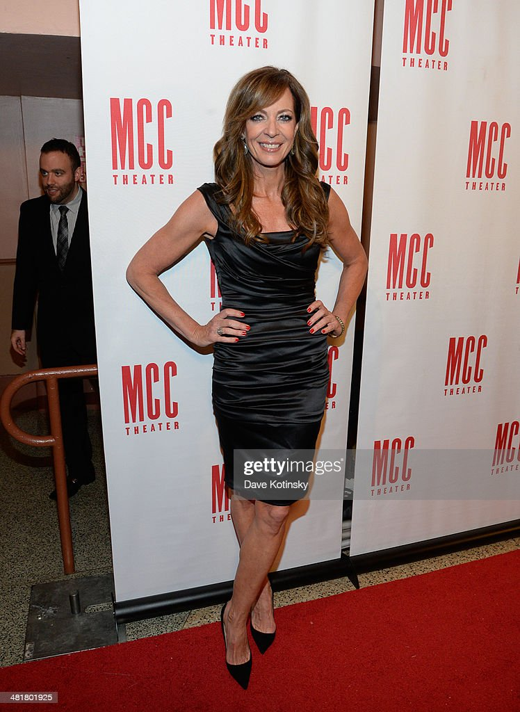 <a gi-track='captionPersonalityLinkClicked' href=/galleries/search?phrase=Allison+Janney&family=editorial&specificpeople=206290 ng-click='$event.stopPropagation()'>Allison Janney</a> attends Miscast 2014 at Hammerstein Ballroom on March 31, 2014 in New York City.