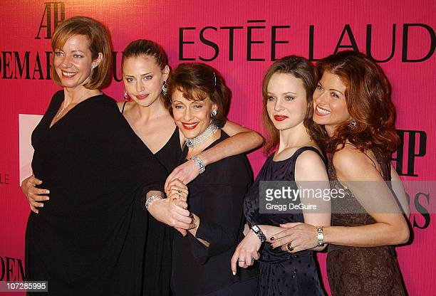 Allison Janney Estella Warren Evelyn H Lauder Thora Birch and Debra Messing