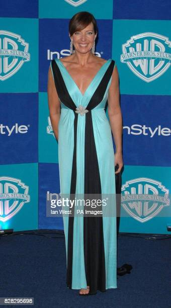 Allison Janney from The West Wing arrives at the In Style Magazine and Warner Bros Studios post Golden Globes party at the Beverly Hilton Hotel Los...
