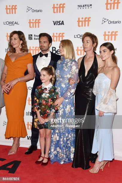Allison Janney Sebastian Stan Mckenna Grace Margot Robbie Julianne Nicholson and Caitlin Carver attend the 'I Tonya' premiere during the 2017 Toronto...