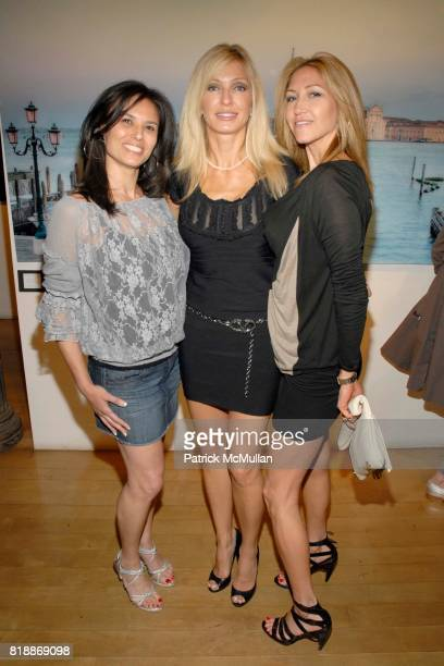 Allison Kagan Desera Romanelli and Lisa Scharf attend Opera Gallery Opening Voigt Monet and Vukelic at Opera Gallery on April 15 2010 in New York City