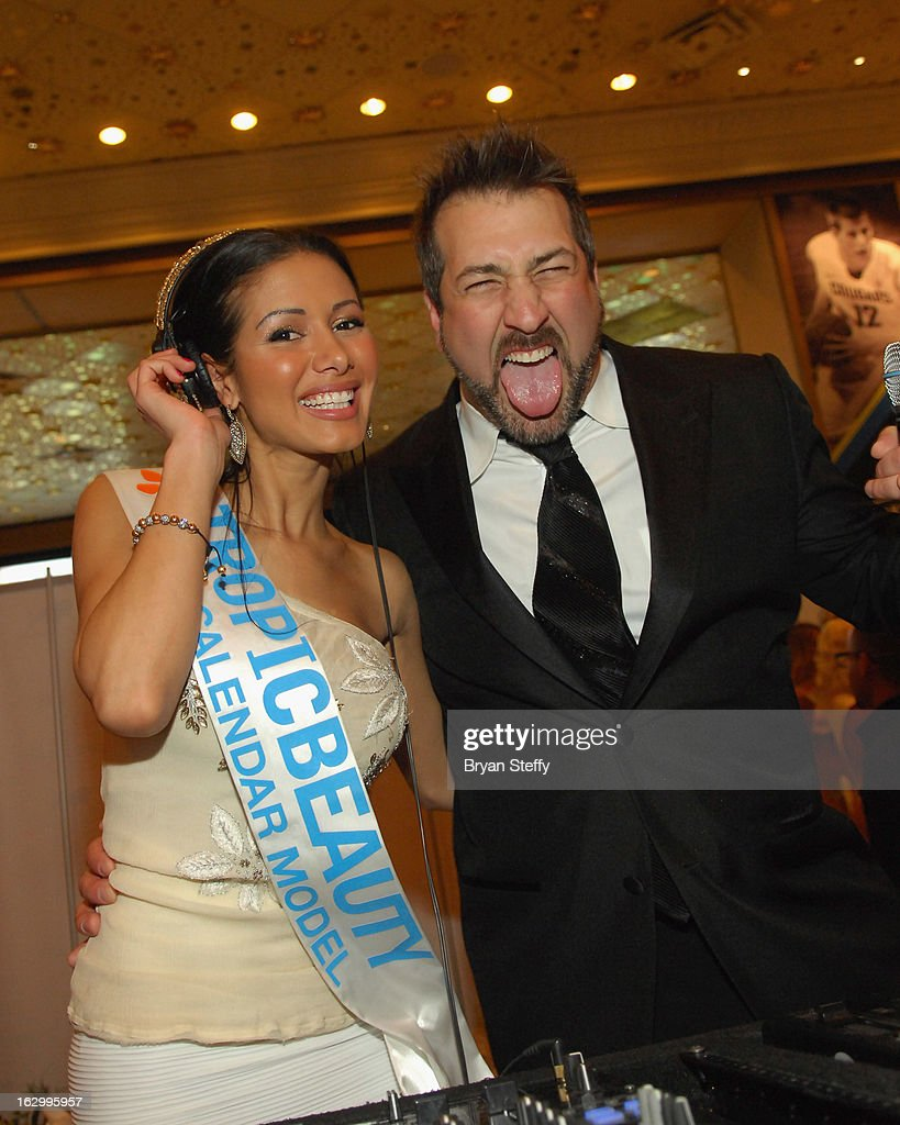 Allison Lamarre 'DJ Pixie' (L) and entertainer <a gi-track='captionPersonalityLinkClicked' href=/galleries/search?phrase=Joey+Fatone&family=editorial&specificpeople=204237 ng-click='$event.stopPropagation()'>Joey Fatone</a> appear at the third annual TropicBeauty World Finals at the MGM Grand Hotel/Casino on March 2, 2013 in Las Vegas, Nevada.