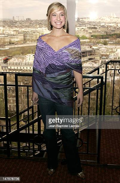 Allison Mack during 13th Jules Verne Film Festival Allison Mack Photocall at Eiffel Tower in Paris France