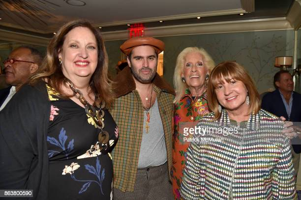 Allison Mazzola Whitney Robinson Cynthia Frank and Milly de Cabrol attend the launch of Second Bloom Cathy Graham's Art of the Table hosted by Joanna...