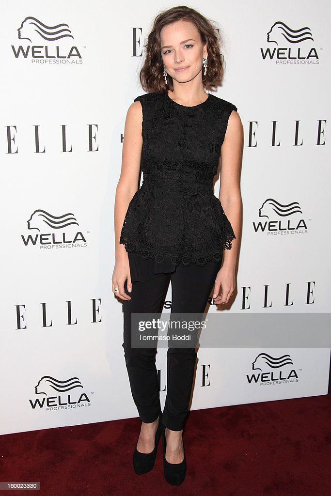 Allison Miller attends the ELLE Women in Television Celebration presented by Hearts on Fire Diamonds and Wella Professionals held at Soho House on January 24, 2013 in West Hollywood, California.