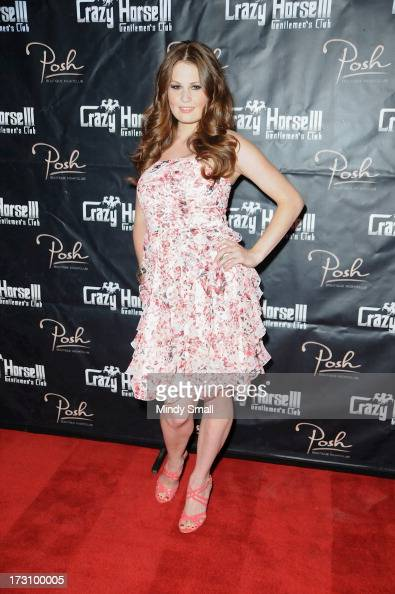 Allison Moore arrives at the Crazy Horse III Gentleman's Club on July 6 2013 in Las Vegas Nevada