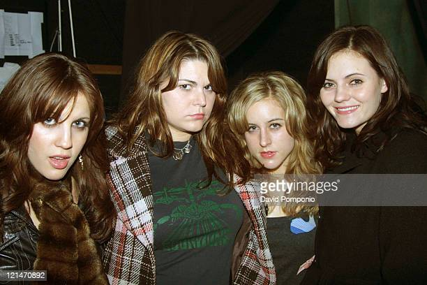 Allison Robertson Maya Ford Torry Castellano and Brett Anderson of The Donnas