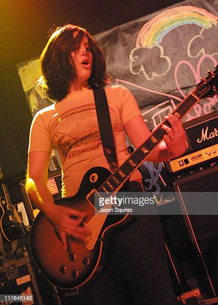 Allison Robertson of The Donnas during The Donnas Perform in Kansas City on February 19 2003 at The Granada in Lawrence Kansas United States