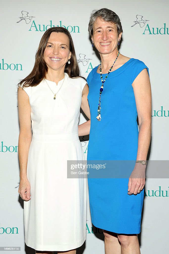 Allison Rockefeller and Secretary of the Interior Sally Jewell attend The National Audubon Society 10th Anniversary Women in Conservation Luncheon on May 29, 2013 in New York, United States.