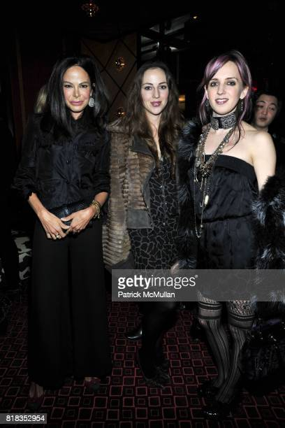 Allison Sarofim Lily Atherton Hanbury and Hope Atherton attend CHANEL DINNER IN HONOR OF VANESSA PARADIS FOR ROUGE COCO at the Mark Hotel on February...