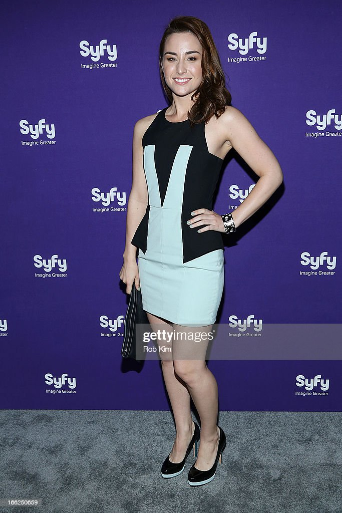 Allison Scagliotti of 'Warehouse 13' attends Syfy 2013 Upfront at Silver Screen Studios at Chelsea Piers on April 10, 2013 in New York City.