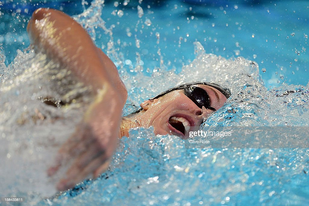 Allison Schmitt of USA competes in the WOmen's 200m Freestyle Final during day five of the 11th FINA Short Course World Championships at the Sinan Erdem Dome on December 16, 2012 in Istanbul, Turkey.