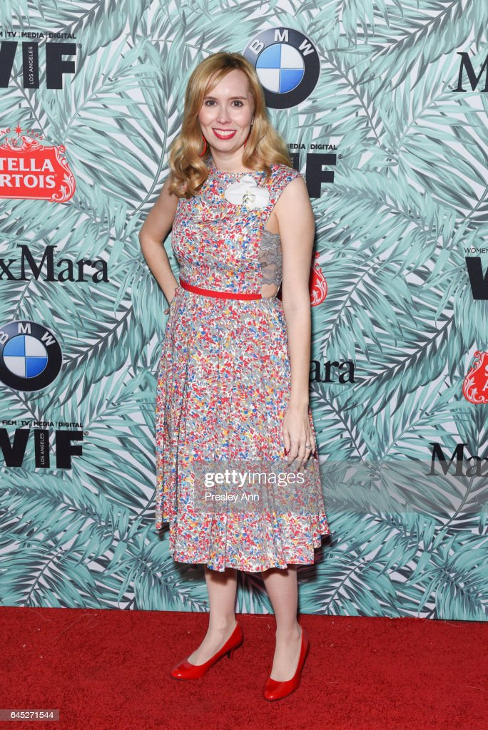 Allison Schroeder arrives at the 10th Annual Women In Film Pre-Oscar Cocktail Party at Nightingale Plaza on February 24, 2017 in Los Angeles, California.