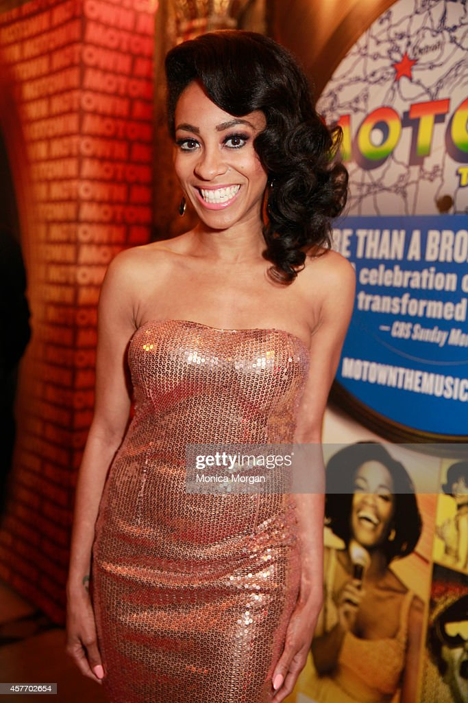Allison Semmens attends the opening night of 'Motown The Musical' at The Fisher Theatre on October 22 2014 in Detroit Michigan
