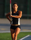 Allison Stokke of Newport Harbor High won the girls' pole vault at 133 1/2 in the CIF Southern Section Masters Meet at Cerritos College in Norwalk...