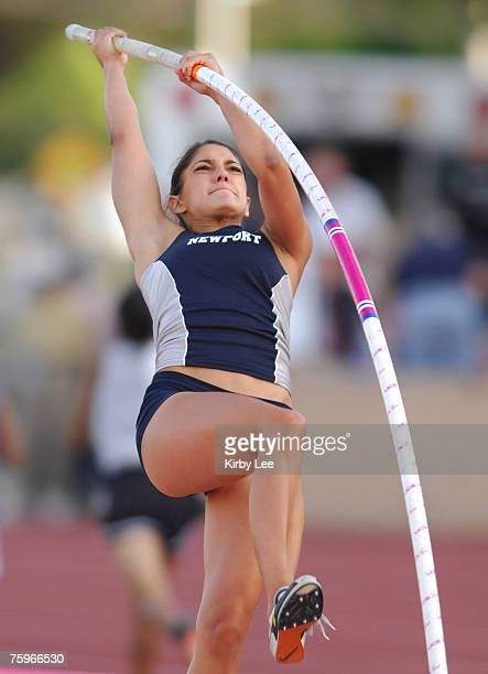 Allison Stokke of Newport Harbor was among eight athletes to clear 123 in the girls' pole vault qualifying in the CIF State Track Field Championships...