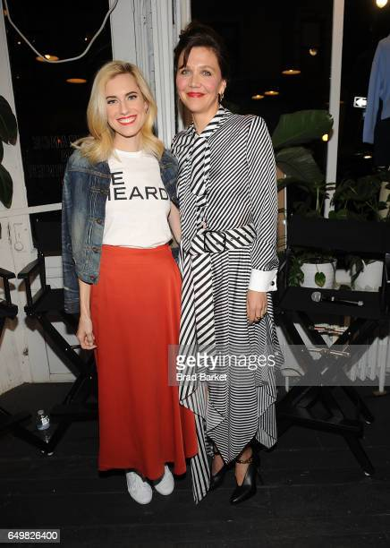 Allison Williams and Maggie Gyllenhaal attend Be Bold for Change One Step at a Time to celebrate International Women's Day hosted by Keds and...