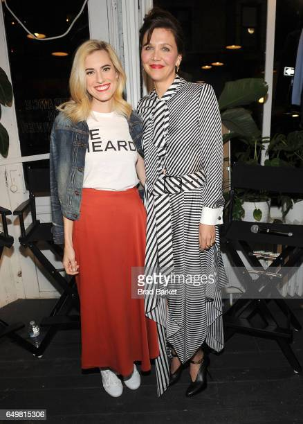 Allison Williams and Maggie Gyllenhaal attend the Be Bold For Change One Step At A Time to celebrate International Women's Day hosted by Keds and...