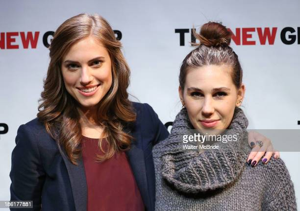 Allison Williams and Zosia Mamet attend the 'Crimes Of The Heart' benefit reading for The New Group at Acorn Theatre on October 28 2013 in New York...
