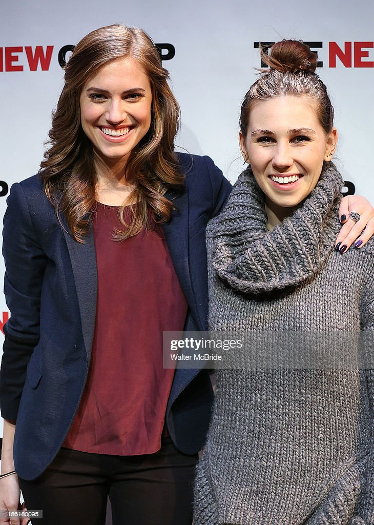 <a gi-track='captionPersonalityLinkClicked' href=/galleries/search?phrase=Allison+Williams+-+Actress&family=editorial&specificpeople=594198 ng-click='$event.stopPropagation()'>Allison Williams</a> and <a gi-track='captionPersonalityLinkClicked' href=/galleries/search?phrase=Zosia+Mamet&family=editorial&specificpeople=7439328 ng-click='$event.stopPropagation()'>Zosia Mamet</a> attend the 'Crimes Of The Heart' benefit reading for The New Group at Acorn Theatre on October 28, 2013 in New York City.
