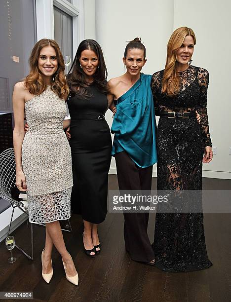 Allison Williams Ann Caruso Cristina Ehrlich and Mary Alice Stephenson attend the SAMA Eyewear launch of deCODELos Angeles at Baccarat New York on...