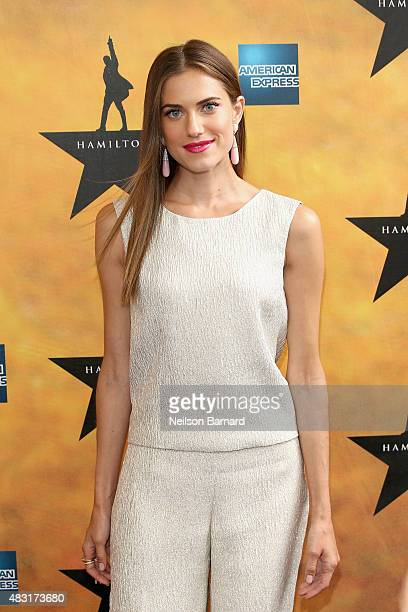 Allison Williams attends 'Hamilton' Broadway Opening Night at Richard Rodgers Theatre on August 6 2015 in New York City
