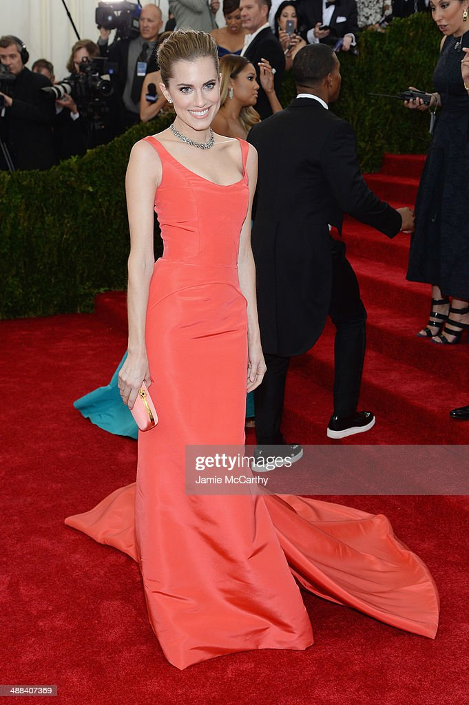 Allison Williams attends the 'Charles James: Beyond Fashion' Costume Institute Gala at the Metropolitan Museum of Art on May 5, 2014 in New York City.