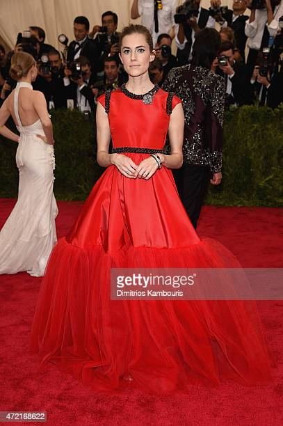 Allison Williams attends the 'China Through The Looking Glass' Costume Institute Benefit Gala at the Metropolitan Museum of Art on May 4 2015 in New...